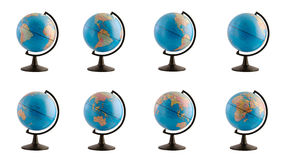 Earth globe in various views Royalty Free Stock Photography