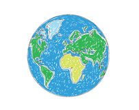 Earth Globe. A vector illustration of Earth Globe Royalty Free Stock Photo