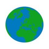 Earth globe. Vector world in blue an green vector illustration