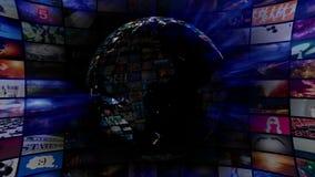 Earth Globe Video Vortex stock video