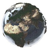 Earth globe. Vintage gravure style effect Royalty Free Stock Photo
