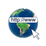 Earth globe web connection internet Royalty Free Stock Photos