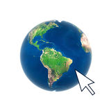 Earth globe web connection internet Stock Photography
