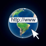 Earth globe web connection internet Stock Photos