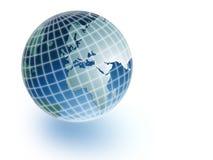 Earth globe. On white background Vector Illustration