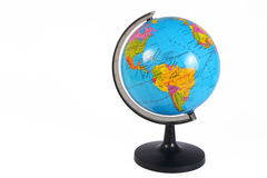 Earth Globe on White Background Stock Images
