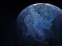 Earth globe wire frame Royalty Free Stock Photos