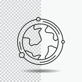 Earth, globe, world, geography, discovery Line Icon on Transparent Background. Black Icon Vector Illustration. Vector EPS10 Abstract Template background stock illustration