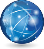 Earth, globe, world globe, logo, sign Royalty Free Stock Photography