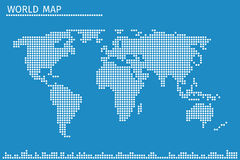 Earth globe world map of dots vector illustration Stock Photography