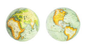 Earth globe of world set. Earth globe of world isolated on white Stock Photography