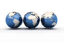 Earth globes Royalty Free Stock Images