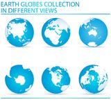 Earth globes Royalty Free Stock Photo