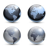 Earth globes Stock Images