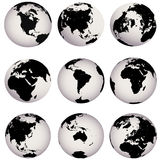Earth globes Royalty Free Stock Photography