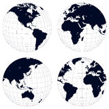 Earth globes royalty free illustration