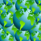 Earth globes. Background filled with earth globes Royalty Free Stock Photos