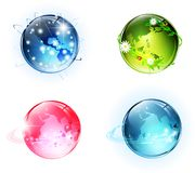 Earth globes Stock Photos