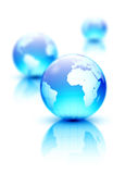 Earth globes Royalty Free Stock Photos