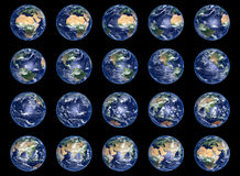 Earth Globes collection Stock Image