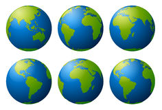 Earth globes Stock Photography