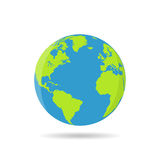 Earth globes isolated on a white background in a flat design Royalty Free Stock Images