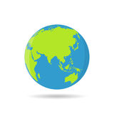 Earth globes isolated on a white background in a flat design Royalty Free Stock Photography