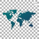 Map Earth globes isolated on white background. Flat planet Earth icon. Vector illustration. stock illustration