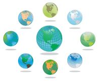 Earth globes set Royalty Free Stock Image