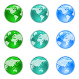 Earth globes set Royalty Free Stock Photo