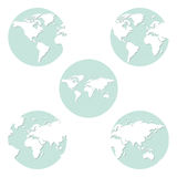 Earth globes set Royalty Free Stock Photos