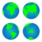 Earth globes vector illustration