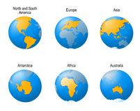 Earth globes set Royalty Free Stock Images