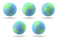 Earth globes set Royalty Free Stock Photography