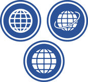 Earth globes - Vector icons Royalty Free Stock Photos