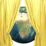 Earth with golden drapery Royalty Free Stock Image