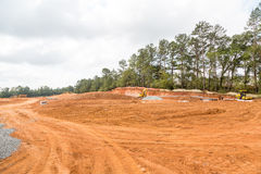 Free Earth Grading At Residential Construction Site Stock Image - 60777091