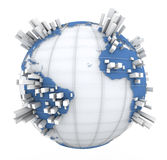 Earth Graph in blue and white Stock Image