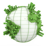 Earth Graph in green and white Stock Photography