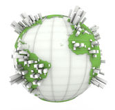 Earth Graph in white and green Stock Image