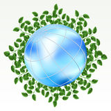Earth with grass Royalty Free Stock Photography