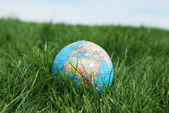 Earth on grass Royalty Free Stock Photography