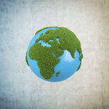 Earth with grass africa Stock Photos