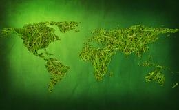 earth grass map Στοκ φωτογραφίες με δικαίωμα ελεύθερης χρήσης