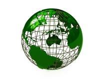 Earth green. The conceptual image of a planet the Earth Stock Photos