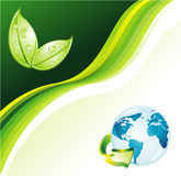 Earth Green Background for Flyers Stock Image