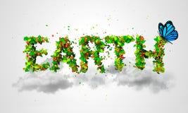 Earth Green Cloud Butterfly. Digital art Royalty Free Stock Photos