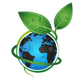 Earth green eco concept. Green Earth Environmental concept for a vector Stock Illustration