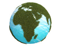 Earth green grass europe africa south north 3d cg Stock Images