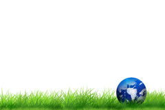 Earth at the green grass Royalty Free Stock Image